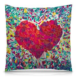 """Подушка 40х40 с полной запечаткой """"Дизайн сердце"""" - любовь, арт, дом, абстракция, я люблю"""