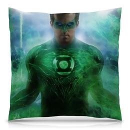 """Подушка 40х40 с полной запечаткой """"Зеленый Фонарь"""" - green lantern"""