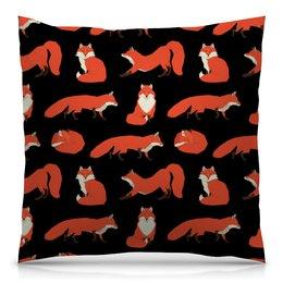 "Подушка 40х40 с полной запечаткой ""Лиса ( Fox)"" - fox, лиса, животное, лисички"