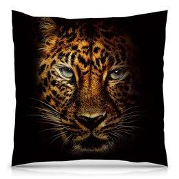 """Подушка 40х40 с полной запечаткой """"Джуманджи: зов джунглей"""" - леопард"""