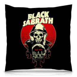 "Подушка 40х40 с полной запечаткой ""Black Sabbath"" - metal, рок, группы, black sabbath, ozzy osbourne"
