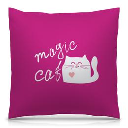 """Подушка 40х40 с полной запечаткой """"Magic Cat"""" - кот, cat, котик"""