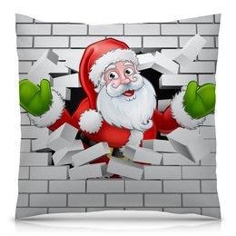 """Подушка 40х40 с полной запечаткой """"Санта Клаус"""" - новый год, санта клаус, 2019"""