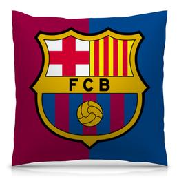 "Подушка 40х40 с полной запечаткой ""Барселона"" - футбол, барселона, fcb, barcelona"