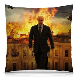 "Подушка 40х40 с полной запечаткой ""Путин"" - юмор, политика, путин, президент, общество"