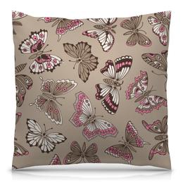 "Подушка 40х40 с полной запечаткой ""Бабочки"" - красиво, бабочки, природа"