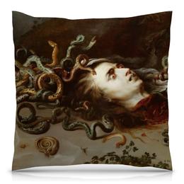 """Подушка 40х40 с полной запечаткой """"Голова Медузы (Рубенс)"""" - барокко, голова медузы, рубенс"""