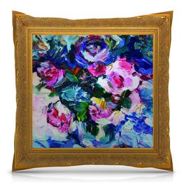 """Подушка 40х40 с полной запечаткой """"Ваза с цветами"""" - цветы, подарок, живопись, подарок на новый год, искусство"""