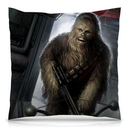 "Подушка 40х40 с полной запечаткой ""Чубакка (Star Wars)"" - chewie, сруцшу"