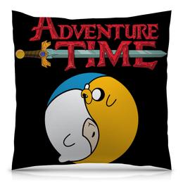 "Подушка 40х40 с полной запечаткой ""Adventure Time / Время Приключений"" - время приключений, adventure time, финн, джейк"