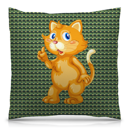 """Подушка 40х40 с полной запечаткой """"Рыжий кот"""" - кот, кошка, животные, котёнок"""