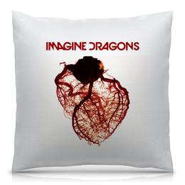 """Подушка 40х40 с полной запечаткой """"Imagine Dragons"""" - рок, группы, инди, imagine dragons, имейджин драгонс"""
