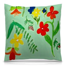 """Подушка 40х40 с полной запечаткой """"Подушка Летние цветы"""" - цветы, лето, красота"""