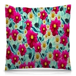 """Подушка 40х40 с полной запечаткой """"Цветочный сад"""" - цветы, весна, сад, цветные, цветочки"""