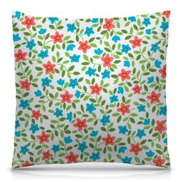 """Подушка 40х40 с полной запечаткой """"Цветочная"""" - цветы, узор, рисунок, орнамент, цветочный"""