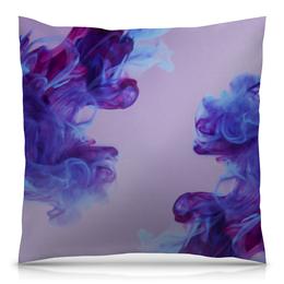 """Подушка 40х40 с полной запечаткой """"Фиолетовые чернила"""" - узор, рисунок, фиолетовый, орнамент, стильный"""