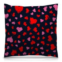 """Подушка 40х40 с полной запечаткой """"Сердце"""" - сердце, любовь, узор, надписи, день влюбленных"""
