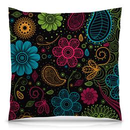 """Подушка 40х40 с полной запечаткой """"Цветочная"""" - цветы, узор, стиль, рисунок, орнамент"""