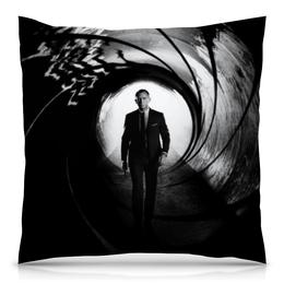 "Подушка 40х40 с полной запечаткой ""Skyfall 007"" - агент, james bond, джеймс бонд, скайфолл"
