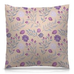 """Подушка 40х40 с полной запечаткой """"цветы"""" - лето, цветы, узор, природа, цветочки"""