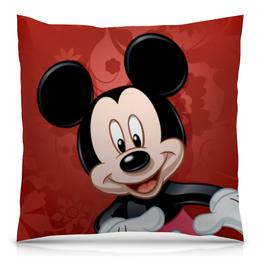 """Подушка 40х40 с полной запечаткой """"Микки Маус мультяшный герой"""" - микки маус, мультяшка, mikki maus, мышонок микки, мультипликационный герой"""