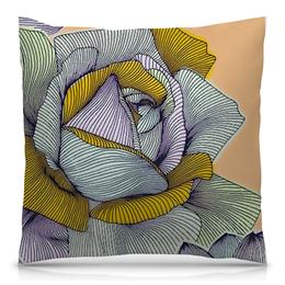 """Подушка 40х40 с полной запечаткой """"Розинда"""" - цветы, цветок, роза"""