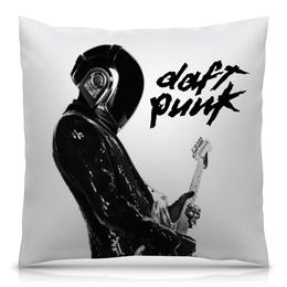 "Подушка 40х40 с полной запечаткой ""Daft Punk"" - daft punk, дафт панк, музыка, электроника, хаус"