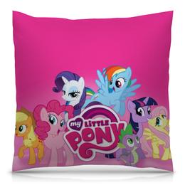 """Подушка 40х40 с полной запечаткой """"My Little Pony"""" - my little pony, friendship is magic"""