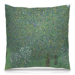 """Подушка 40х40 с полной запечаткой """"Розы под деревьями (Густав Климт)"""" - картина, живопись, климт"""