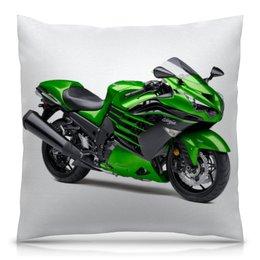 """Подушка 40х40 с полной запечаткой """"Kawasaki"""" - мотоцикл, ninja, kawasaki, кавасаки"""