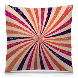 "Подушка 40х40 с полной запечаткой ""Винтажаня радуга"" - узор, радуга, винтаж, орнамент, абстракция"