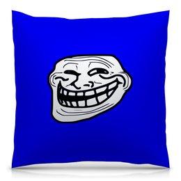 """Подушка 40х40 с полной запечаткой """"Mem смех"""" - смех, приколы, лицо, мемы, mem"""