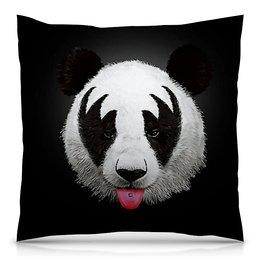 """Подушка 40х40 с полной запечаткой """"PANDA"""" - животные, медведь, мужу, жене, панда"""
