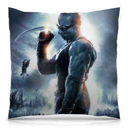 """Подушка 40х40 с полной запечаткой """"Риддик / Riddick"""" - рисунок, кино, риддик"""