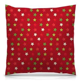 """Подушка 40х40 с полной запечаткой """"Звезды"""" - новый год, узор, звезда, звезды, конфетти"""