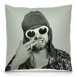 "Подушка 40х40 с полной запечаткой ""Курт Кобейн"" - музыка, nirvana, kurt cobain, курт кобейн, нирвана"