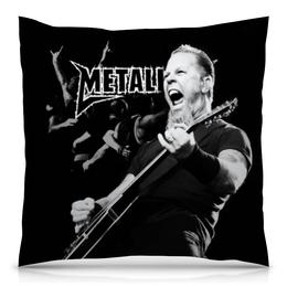 """Подушка 40х40 с полной запечаткой """"Metallica"""" - рок, metallica, группы, метал, металлика"""