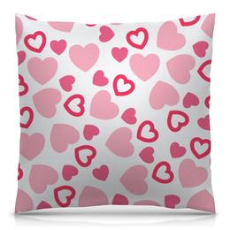 """Подушка 40х40 с полной запечаткой """"Сердечная"""" - сердце, любовь, день валентина, символы, чувства"""