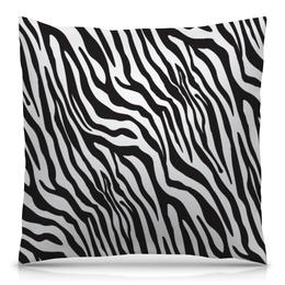 """Подушка 40х40 с полной запечаткой """"Зебра"""" - животные, стиль, зебра, полосы, полосатый"""
