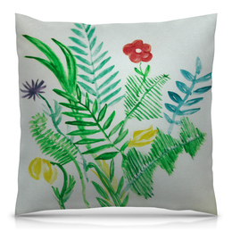 """Подушка 40х40 с полной запечаткой """"Растения"""" - цветы, листья, природа, растения"""