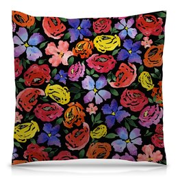 """Подушка 40х40 с полной запечаткой """"цветочки"""" - лето, цветы, узор, природа, цветочки"""