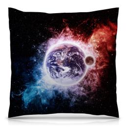 """Подушка 40х40 с полной запечаткой """"Космические сны"""" - space, космос, наука, марс, thespaceway"""