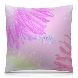 """Подушка 40х40 с полной запечаткой """"Sweet Spring (розовый)"""" - арт, позитив, нежность, sweetspring"""