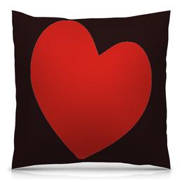 """Подушка 40х40 с полной запечаткой """"сердце"""" - люблю, с сердцем, купить, подушку, с рисунком"""
