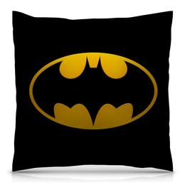 """Подушка 40х40 с полной запечаткой """"Летучая мышь"""" - comics, комиксы, бэтмен, dc"""