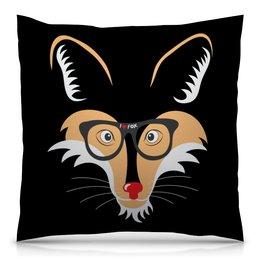"Подушка 40х40 с полной запечаткой ""Лис (Fox)"" - лис, fox, лиса, животное"