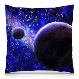 """Подушка 40х40 с полной запечаткой """"Космос планеты"""" - звезды, планета, космос, планеты, космический"""