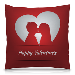 """Подушка 40х40 с полной запечаткой """"День святого Валентина"""" - любовь, сердца, день святого валентина, пары, день влюбленных"""
