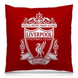 """Подушка 40х40 с полной запечаткой """"Ливерпуль"""" - футбол, ливерпуль, liverpool, футбольный клуб, you ll never walk alone"""