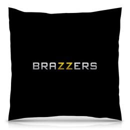 """Подушка 40х40 с полной запечаткой """"Brazzers"""" - logo, porn, порно, pornhub, brazzers"""